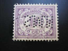 FIRMENLOCHUNG , Perfin - Niederländisch-Indien