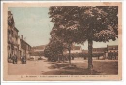 71 - SAINT LEGER Sous BEUVRAY - La Mairie Et La Poste - Francia