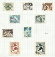 Pologne N°736, 744, 750 à 757, 759, 760   Cote 4.70 Euros - 1944-.... Republic