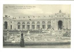 Exposition Universelle De Bruxelles 1910 ; Façade Principale. Section Belge - Expositions