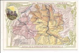 09 - Carte Du Département: Ariège, Chocolaterie D´aiguebelle - Francia