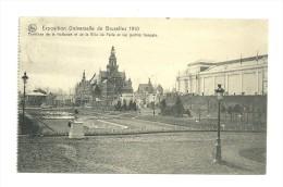 Exposition Universelle De Bruxelles 1910 ; Pavillons De La Hollande Et E La Ville De Paris Et Les Jardins Français - Expositions