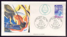 FDC Premier Jour - Solesmes - Abbaye Saint-Pierre - 1980 - 2 Enveloppes Et Carte Maximum - FDC