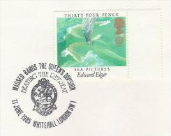 1985 GB Stamps COVER EVENT Illus  DRAGON , Whitehall Massed Bands Elgar Music - Mythology