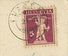 Oblitération VUADENS - Marcophilie