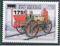 2005-06 BENIN Michel 1382** Véhicule Pompier, Surchargé 175/270 - Benin – Dahomey (1960-...)