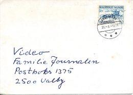 GROENLAND. N°68 De 1971 Sur Enveloppe Ayant Circulé. Chien De Traîneau. - Honden