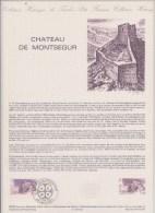DOCUMENT PHILATHELIQUE CHATEAU DE MONTSEGUR - Documentos Del Correo