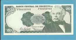 VENEZUELA - 20 BOLÍVARES - 10 / 02 / 1998 - UNC. - Pick 63f - JOSÉ ANTONIO PAEZ - 2 Scans - Venezuela
