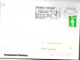 "Lettre Puylaurens Tarn Flamme ""Berceau Occitan De Marianne"" Du16/7/96  / Marianne Briat  (YT3005) - Postmark Collection (Covers)"