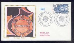 FDC Premier Jour - Europa - Traité De Rome 1957 - 1982 - Avec La Carte Maximum - FDC