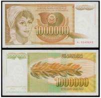 YUGOSLAVIA JUGOSLAVIJA 1000000 Dinara 1989 - Yougoslavie
