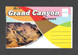 GRAND CANYON - ARIZONA - SOUVENIR FOLDER - CARNET SOUVENIR - 12 PHOTOS - PUBLISHED BY PETLEY STUDIOS