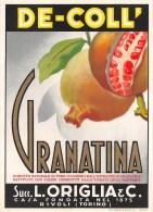 """0709 """"DE-COLL' GRANATINA - SUCC. L. ORIGLIA - RIVOLI (TORINO)""""  ETICHETTA ORIGINALE. - Altri"""