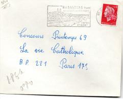 """Lettre Rabastens Tarn Flamme """"Son Eglise Ses Remparts Chateau St Gery"""" Du28/7/69 MarianneCheffer (YT1536) - 1921-1960: Modern Tijdperk"""