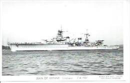 """CP PHOTO:  """" JEAN DE VIENNE """" -  CROISEUR  -  7-4-1937  (  -   BATEAU DE GUERRE   ) - Guerre"""
