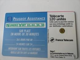 RARE : DECALAGE RECTO ET VERSO SUR PEUGEOT ASSISTANCE SC5 120U - Variëteiten