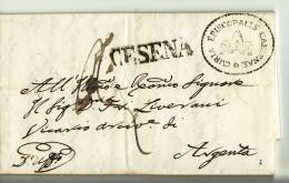 11794 01 PAPAL STATE CESENA X ARGENTA - ANNO 1856 CON TESTO - 1. ...-1850 Prefilatelia