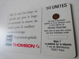 RARE : DECALAGE ET NUMEROTATION HORS CADRE SUR ISO THOMSON GLACEE SC4ON 50U - Variëteiten
