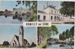 10,romilly Sur Seine (aube) ,la Gare , Le Pont,l´église,1964 - Romilly-sur-Seine