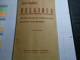 Carte Routière De Belgique Et Grand-Duché De Luxembourg échelle 1/320000 - Cartes Routières