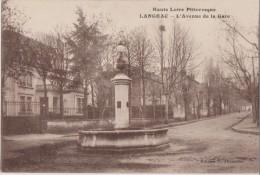Cpa,haute Loire, Langeac ,l´avenue De La Gare En 1928,fontaine ,eau Fraiche,43 - Langeac