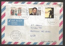 Germany 1993 Gorlitz (16.11.93) To Matthews, NC USA - Storia Postale
