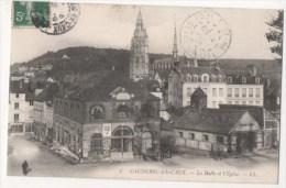 CAUDEBEC EN CAUX - La Halle Et L'Eglise - Caudebec-en-Caux