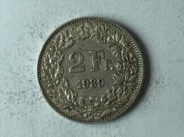 Suisse Switzerland 2 Francs Argent Silver 1939 - Svizzera