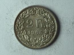 Suisse Switzerland 2 Francs Argent Silver 1965 - Svizzera