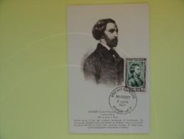 CARTE MAXIMUM CARD ALFRED DE MUSSET FRANCE RARE - 1950-59