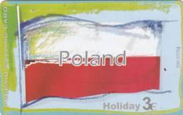 GREECE - European Union/Poland(flag), Amimex Prepaid Card 3 Euro, Tirage 500, 07/04, Used - Poland