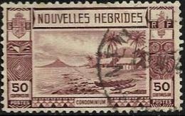 FRANCAISE NEW HEBRIDES LANDSCAPE BROWN PART SET OF 1 STAMP 50 CENTIMES UHD 1938 SGF60 READ DESCRIPTION !! - Légende Française