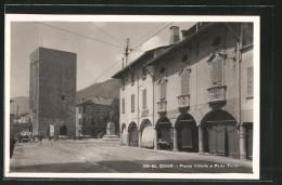 Cartolina Como, Piazza Vittoria E Porta Torre - Como
