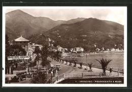 Cartolina Arenzano, Passeggiata A Mare, Grand Hotel Ristorante Arenzano - Italy