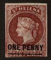 St. Helena Scott #8, 1863, Stanley Gibbons No., Hinged - St. Helena