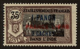 French India Scott #115, 1941, Hinged - India (1892-1954)