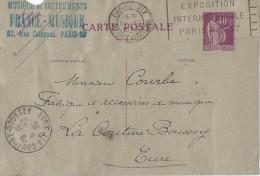 Carte Postale Sans Illustration /Fab. Instrum.  Musique/France-Musique/Paris /Courbe/La Couture Boussey/1935  PART201 - Musique & Instruments