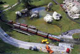 "TRANSPORT  /  TRAIN    "" MAQUETTE DE TRAIN ""  CPM / CPSM  10 X 15 - Schienenverkehr"