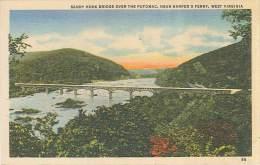 CPSM USA - Sandy Hook Bridge Over The Potomac - Near Harper's Ferry - West Virginia - Etats-Unis