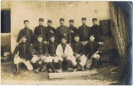 Photographie    Groupe    Militaires  1915     Verso Courrier  Pierrelatte - France