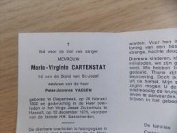 Doodsprentje Maria Virginia Cartenstat Diepenbeek 28/2/1892 Hasselt 10/12/1970 ( Peter Joannes Vaesen ) - Religion & Esotérisme