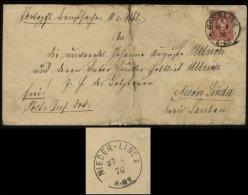 S1965 DR 10 Pfge Brief , Gebraucht Görlitz - Nieder Linda 1876 , Bedarfserhaltung Mit Inhalt. - Deutschland