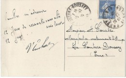 Carte Postale Avec  Illustration /Fab. Instrum.  Musique/ECOCHARD/Bourg/Ain/Courbe/La Couture Boussey/1930  PART205 - Música & Instrumentos