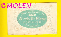 EBENISTE DE MAREE SCHAERBEEK MENUISIER SCHRIJNWERKER CARPENTER RELIEF SEMI-CARTE PORCELAINE PORSELEINKAART BRUXELLES V83 - Petits Métiers