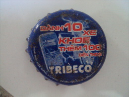 Vietnam Viet nam TRIBECO promotion used crown cap / kronkorken / chapa / tappi
