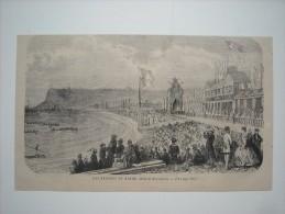 GRAVURE 1869. LES REGATES DU HAVRE................. - Estampas & Grabados
