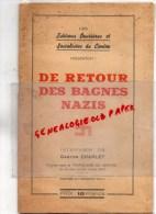 GUERRE 1939-1945- JUIF -RETOUR BAGNES NAZIS-MAUTHAUSEN -G. CHARLET- POPULAIRE CENTRE 1945-LIMOGES- CAMP LOIBJ PASS- - 1939-45