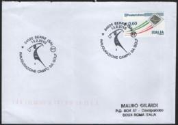 ITALIA SERRE (SA) 2010 - INAUGURAZIONE CAMPO DA GOLF - BUSTA VIAGGIATA PIEGATA CENTRALMENTE - Golf