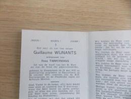 Doodsprentje Guillaume Wijnants Diepenbeek 15/5/1897 Opglabbeek 15/10/1957 ( Rosa Timmermans ) - Religion & Esotérisme